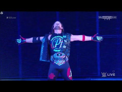 AJ Styles 1st Entrance with U.S. Championship - July 11. 2017 (HD) - YouTube