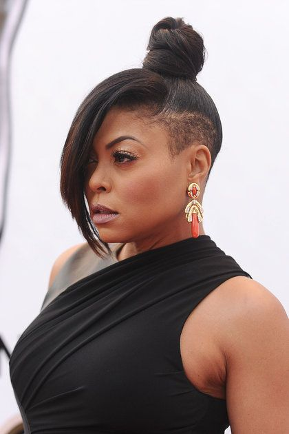 Taraji P. Henson   - 21 Celebrity Shaved Hairstyles That'll Bring Out Your Inner Rockstar