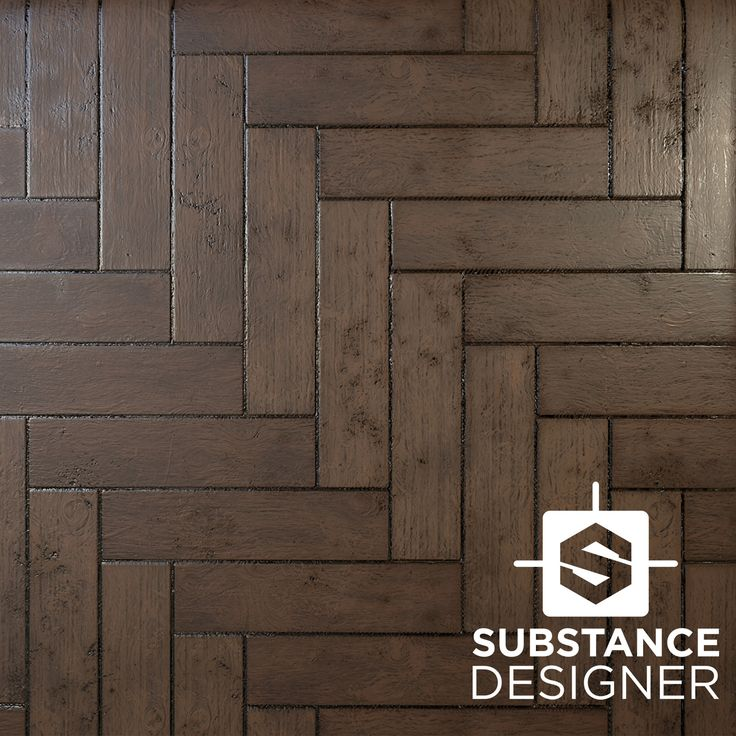 Wooden Herringbone Pattern Floor Material, Daniel Hull on ArtStation at https://www.artstation.com/artwork/W98wG