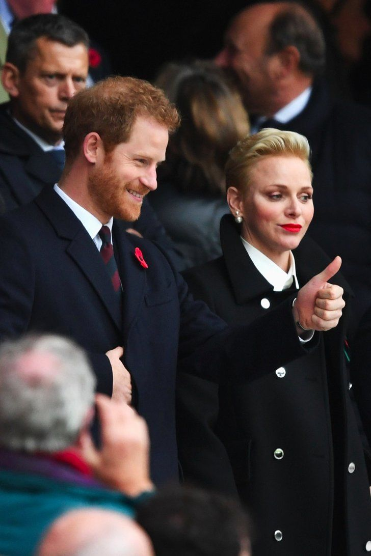Prince Harry Shows Off His Team Spirit With Princess Charlene Ahead of His Caribbean Tour
