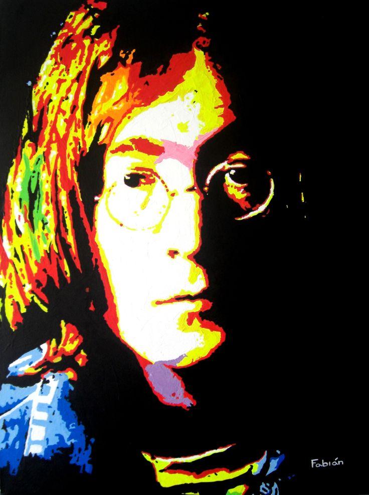 Acrylic on canvas Lennon