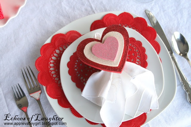 Echoes of Laughter: Valentine Sweet-spiration Week: Table Decor...