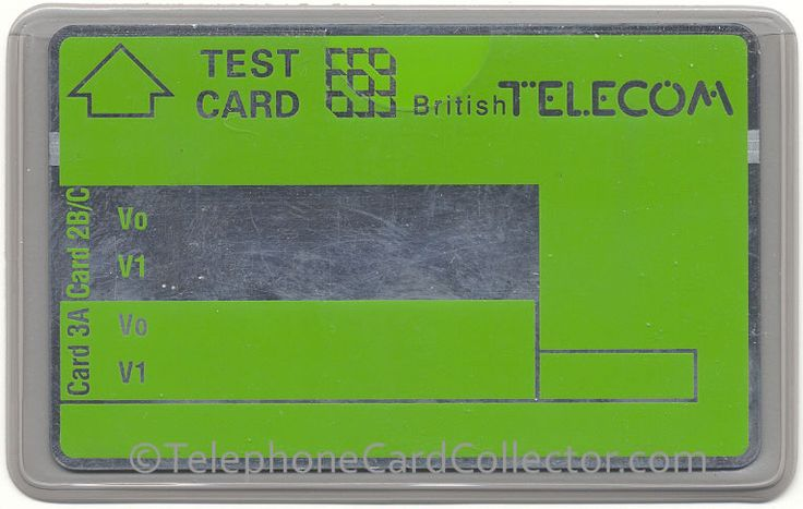 BTT005 Test Card without any printed numbers/values