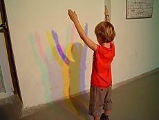Farbige Schatten