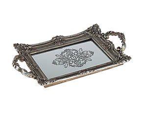 Vassoio con fondo specchiato Tray - 27x46x5 cm