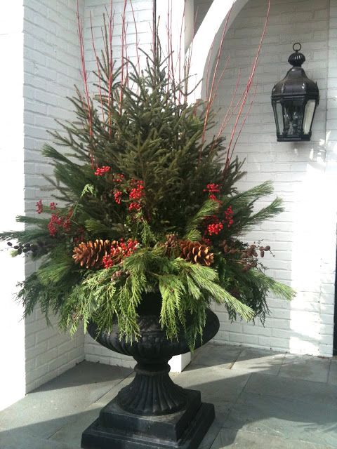 Step by step tutorial on making this luscious urn for my front porch for Christmas 2013 Decor.