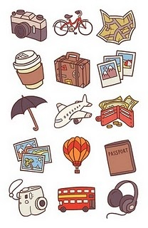 travel drawings: Travel Theme, Icons Pt 1, Travel Illustrations, Travel Icons, Anneka Trans, Doodles, Art, Graphics, Drawing
