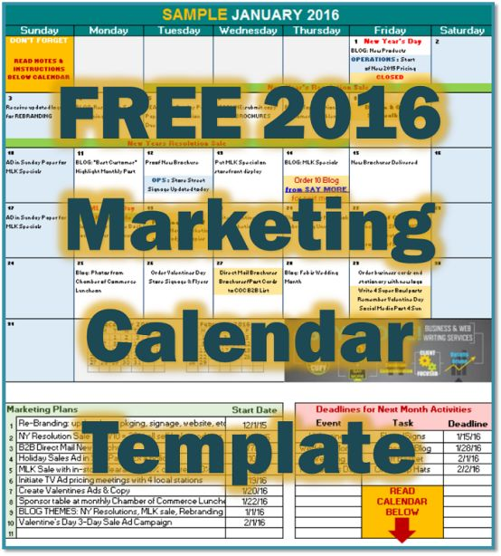 The  Best Marketing Calendar Ideas On