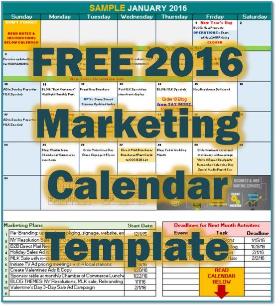 17 Best ideas about Marketing Calendar – Sample Marketing Calendar
