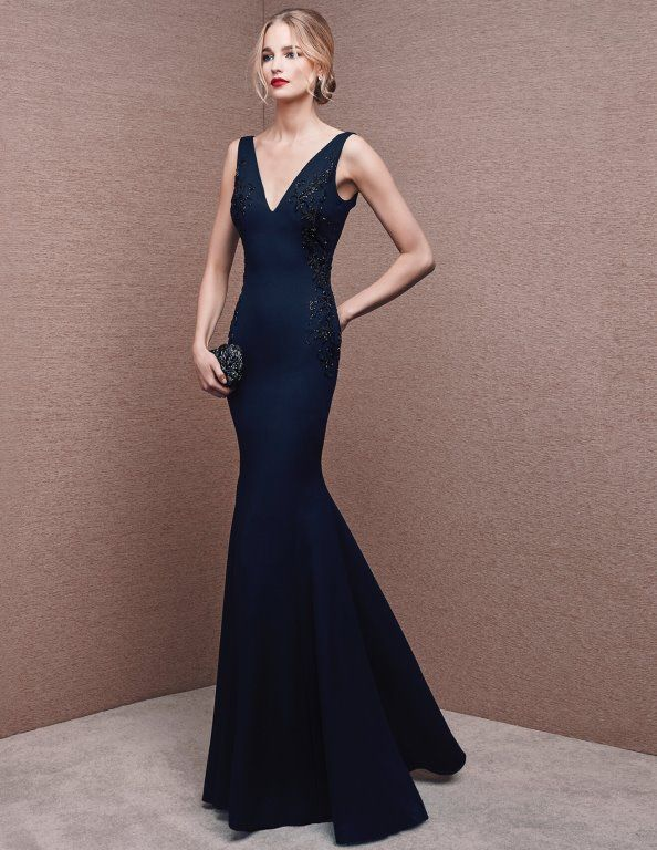 V-neck Front Mermaid Cocktail Party Dress 2016 La Sposa 6681