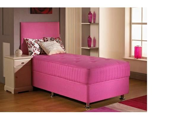 "2ft 6"" Fusion Pink Small Single Divan Bed"