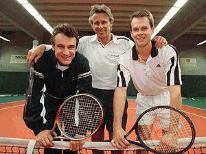 Swedish tennis greats, Mats Wilander, Bjorn Borg and Stefan Edberg