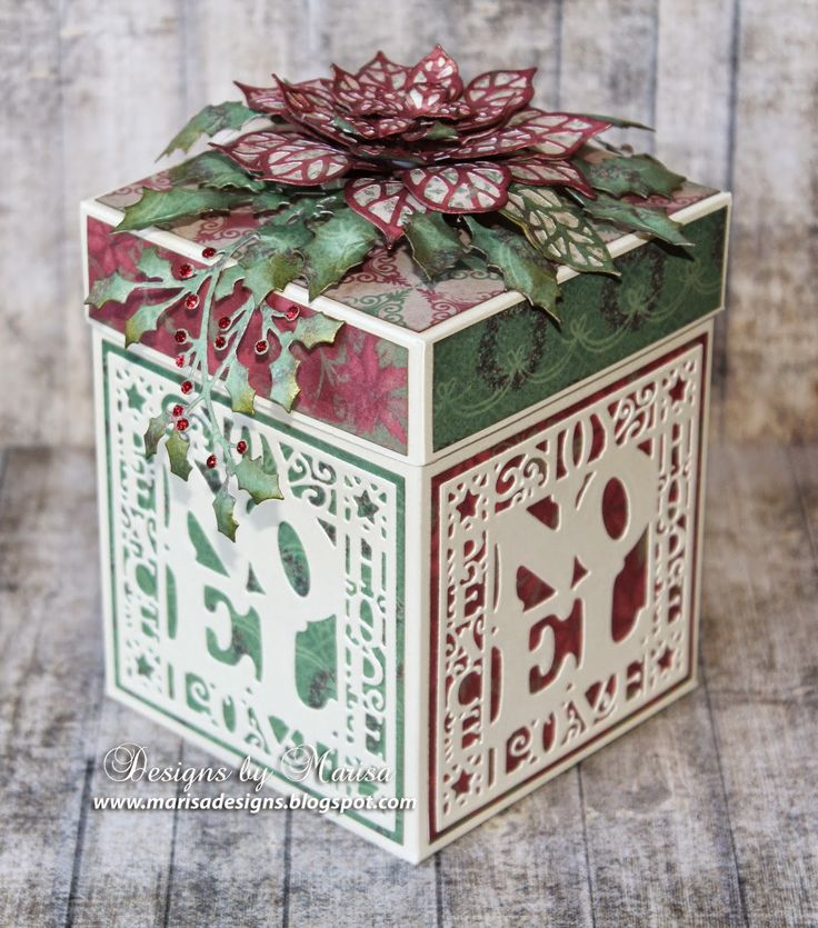 Hello Friends, Today I have a Christmas Gift Box to show you, created with the beautiful Creative...