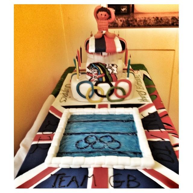 Olympics Tom Daley Team GB diving cake