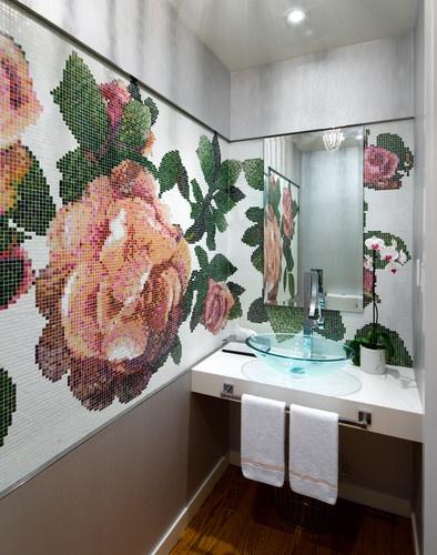 Bridle Path Powder Room - contemporary - bathroom - toronto - Brandon Barré Photography
