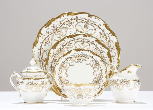 antique dinnerware sets | Coalport Anniversary china dinnerware set for 12 +serving.