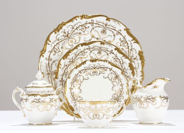 antique dinnerware sets | Coalport Anniversary china dinnerware set for 12 +serving.