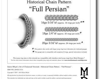 Chain Tutorial Double Half-Persian Pattern PDF by dylonwhyte