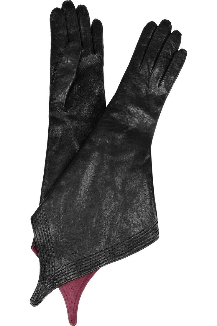 Black leather gloves brisbane - Haider Ackermann Pointed Leather Gloves Net A Porter