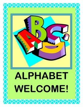 """Alphabet Welcome!"" -- Group Game Fun with a Letter Poem, A-Z"