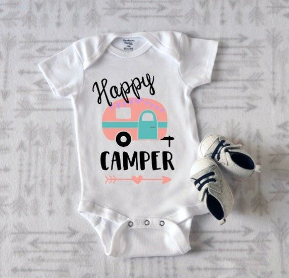 Baby Clothes Baby Shower Gift Funny RV Camper Girls Take Home Outfit Camping RV Baby Onesie \u00ae for Pregnancy Announcement or Reveal