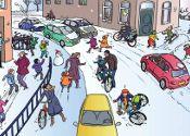 Verkeersles op het digibord: Sneeuw en gladheid
