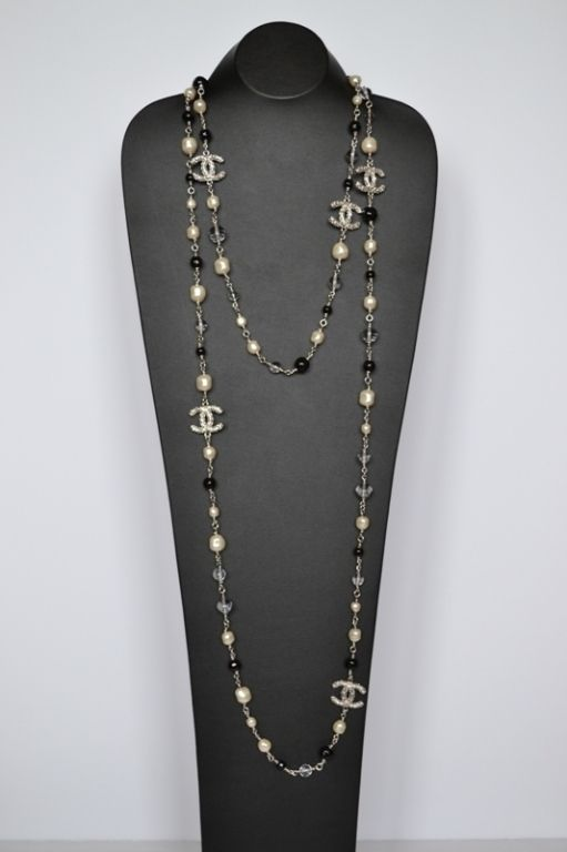 Chanel necklace Sautoir Pearls | From a unique collection of vintage more necklaces at http://www.1stdibs.com/jewelry/necklaces/more-necklaces/