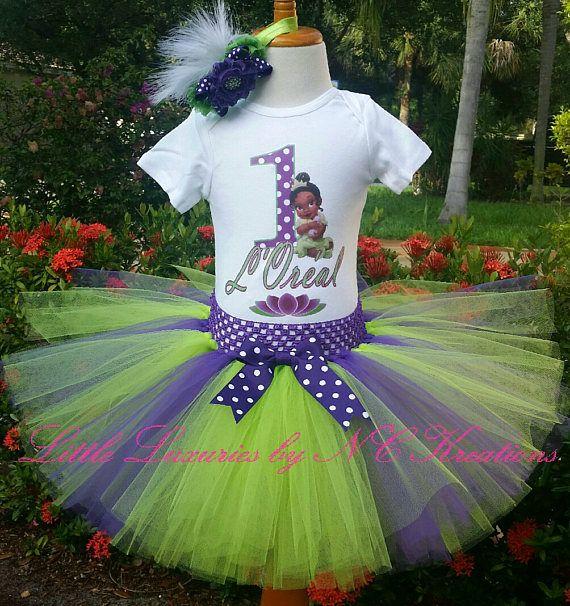 Princess Tiana Birthday Tutu Outfit
