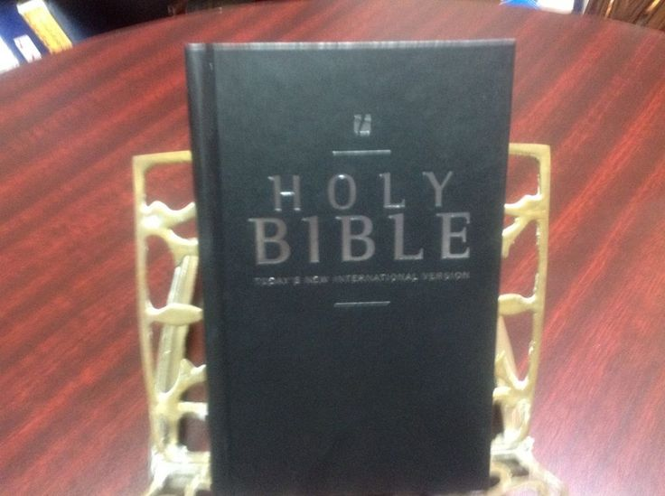 HOLY BIBLE NIV, SILVER EMBOSSED LETTERING ON COVER, SPINE, STUDY HELPS, NEW