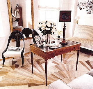 Art Deco Rug Circa 1940 In This Traditional Living Room By Emma Jane Pilkington New York