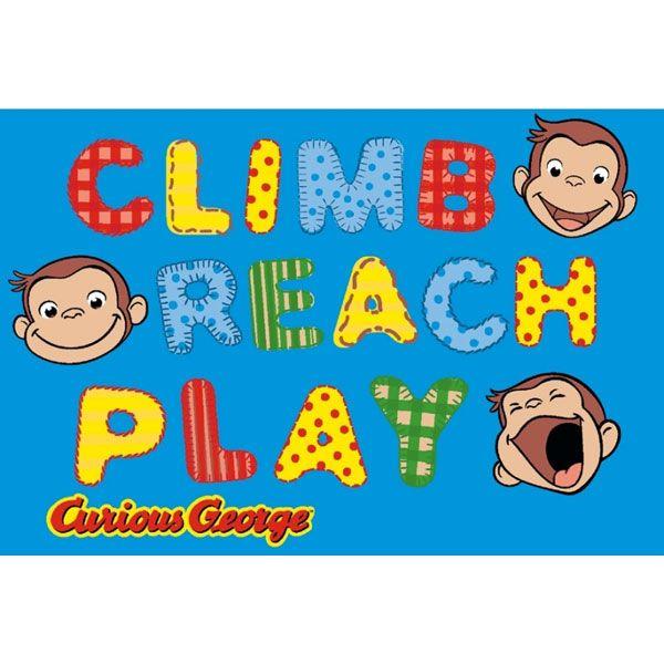 curious george climb reach play blue rug 51