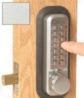 Lockey 2210scko Satin Chrome Keypad Panic Proof Key By-Pass Keyless Entry Deadbolt from the 2000 Series from Lockey USA