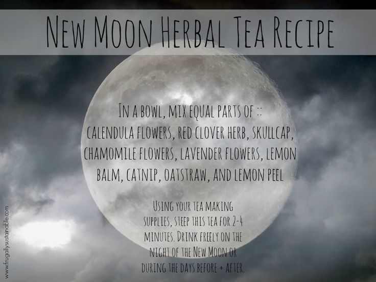 New Moon Herbal Tea Recipe...to gently guide us toward rebirth, creation, and new beginnings
