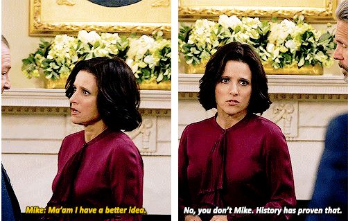 "When Selina shot down Mike pretty damn hard: | 26 Insane ""Veep"" Insults We're Still Laughing At"