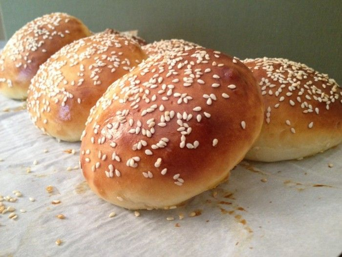 Hamburger buns with Sesame Seeds