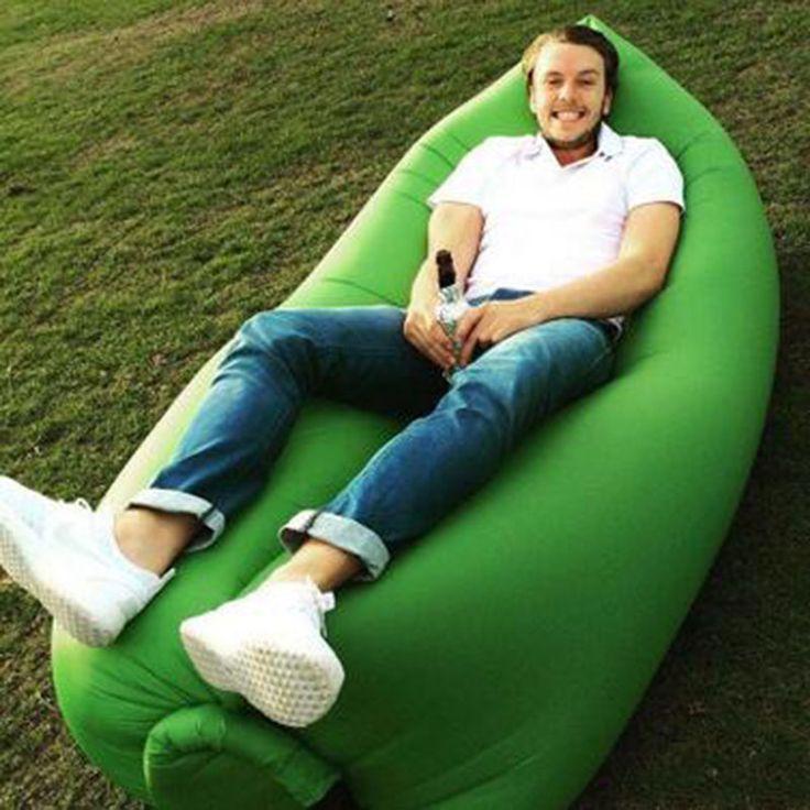 Out Door Gas Sofa Fast Inflatable Laybag Sleeping Bag Beanbag Sofa Chair Hangout Camping Outdoor Bed Beach Sofa Sleeping Bag