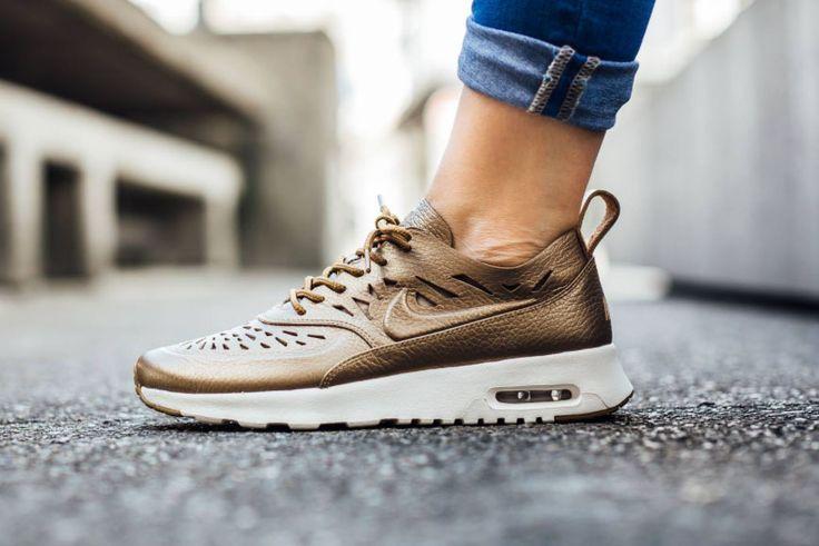Nike Air Max Thea Joli Gets a Touch of Metallic Gold - MISSBISH | Women's Fashion Fitness &...