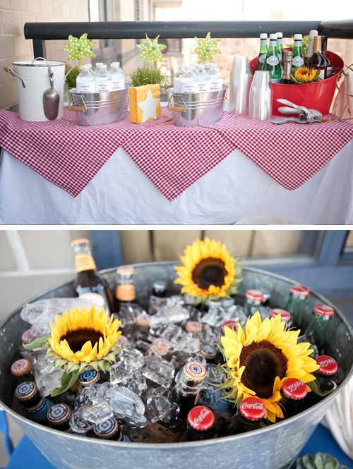 These are photos from a Manhatten picnic 1st birthday party - wow!  So nice and full of great ideas.  I especially liked the drink color with the sunflowers