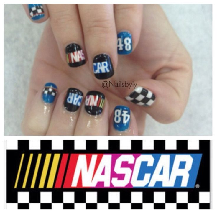 NASCAR nail art - Best 25+ Nascar Nails Ideas On Pinterest Racing Nails, Checkered