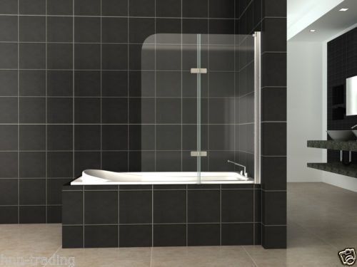 180° Pivot Glass Over Bath 2 Fold Folding Shower Screen Bath Door Panel & Seal | eBay