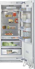 """Gaggenau RC462700 24"""" Built-in Fully Integrated Refrigerator with 4 Height-Adjustable Glass Shelves (1 Motorized), 13.1 cu. ft. Capacity, Al..."""