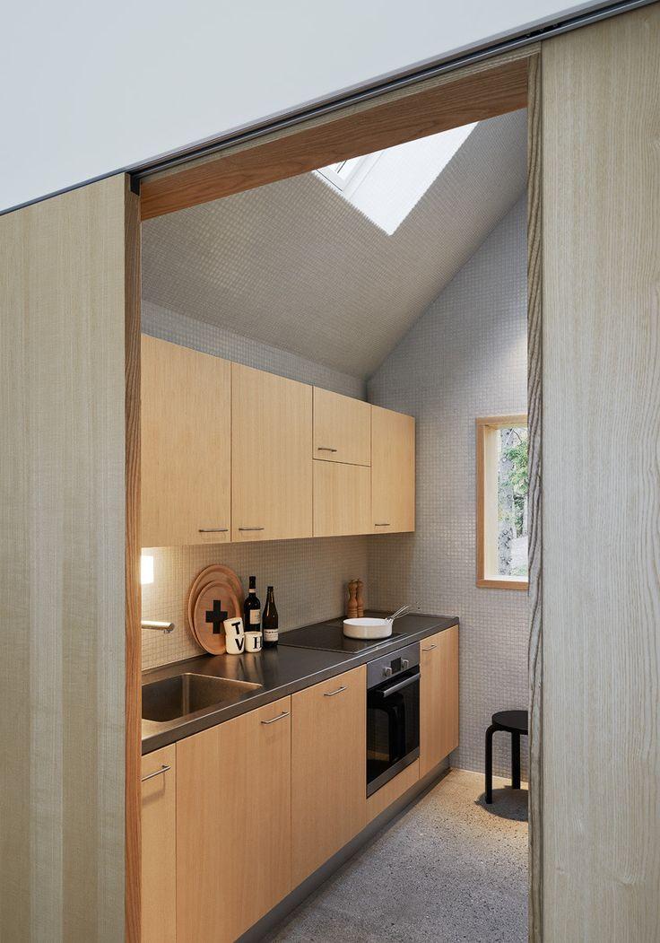 House Design Connected to Natural Landscape: Summerhouse Lagnö : Summerhouse Lagno By Tham & Videgard Arkitekter – Kichen Area