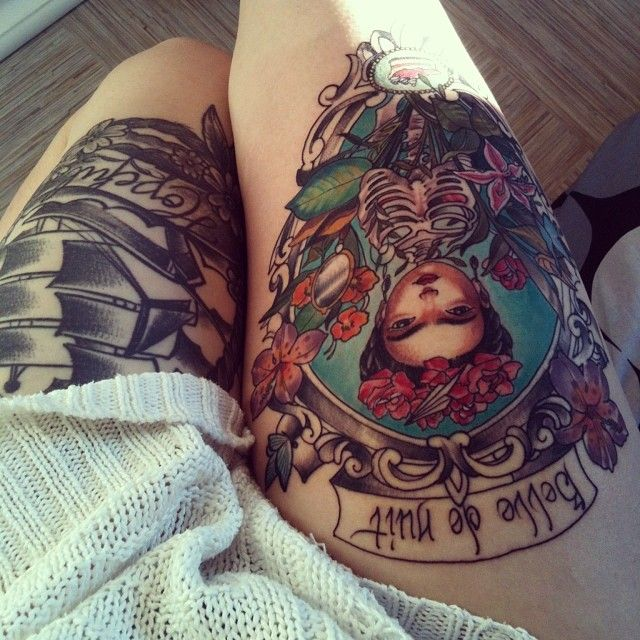 101 thigh tattoo ideas and designs for women zariascom - 640×640