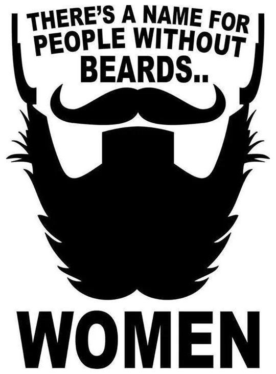 There's Two Kinds Of People In The World Beard jokes