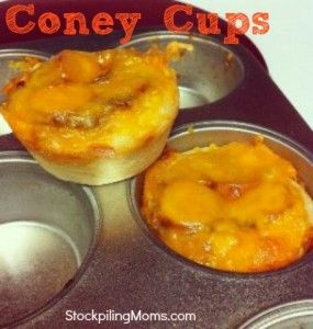 Cheese Coney Cups -  Great alternative to Skyline Dip on Game Day!