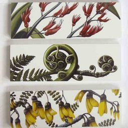 NZ Flora Art Blocks Great wall hangings for kitchen