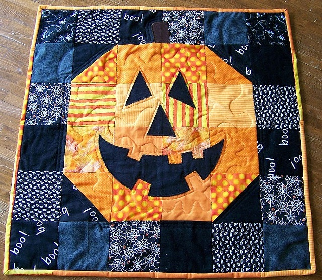 quilted halloween ornaments
