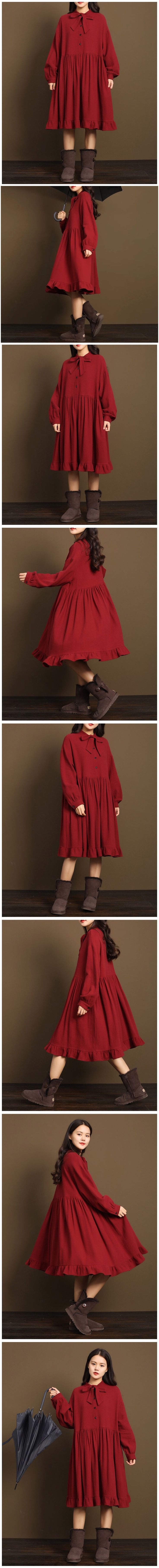 Red lovely wool dresses