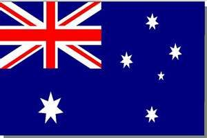 Flag of Australian, where my wife auntie and her children and their children live on West Coast.