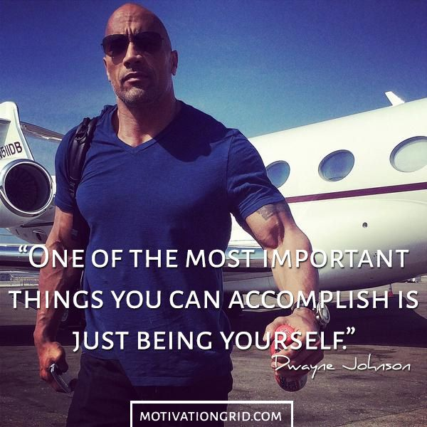 Dwayne Johnson Motivational Picture Quote